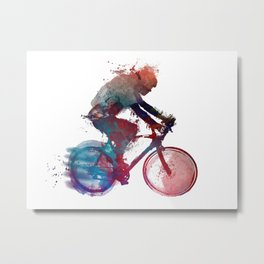 cyclist 1 #sport #cyclist Metal Print