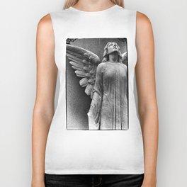 Female Angel Looking Upwards #faith #Christmas Biker Tank