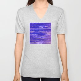 Dawn's First Light Abstract Design Unisex V-Neck