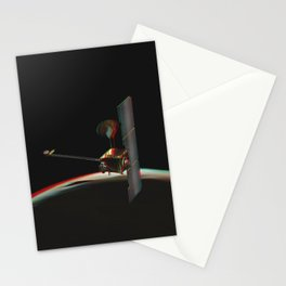 Odyssey over Martian Sunrise, 3-D Artist Concept. Original from NASA. Stationery Cards