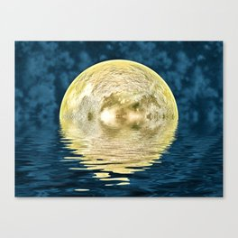 Golden moon Canvas Print