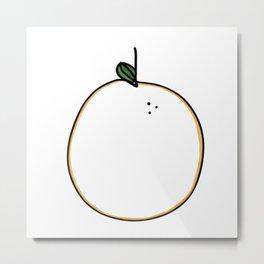 Orange Citrus Metal Print