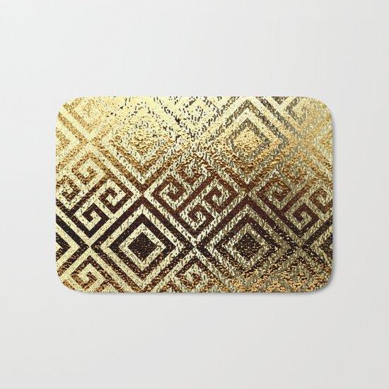 Elegant gold #1 Bath Mat
