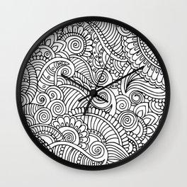 New Black and White Mandala Wall Clock