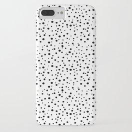 PolkaDots-Black on White iPhone Case