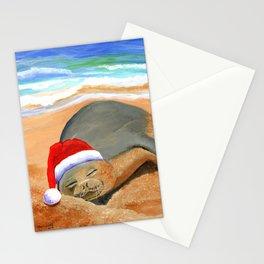 Mele Kalikimaka Monk Seal Stationery Cards