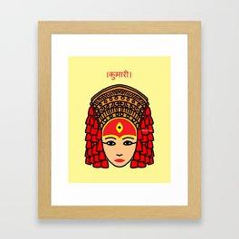 The Living Goddess Framed Art Print