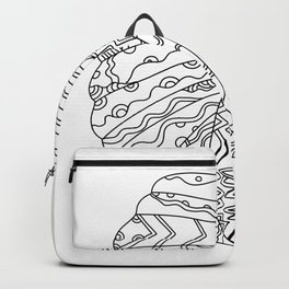 American Plains Indian with War Bonnet Doodle Backpack