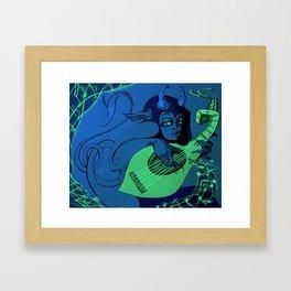 (Blue version) Snazzy Lute Demon Framed Art Print