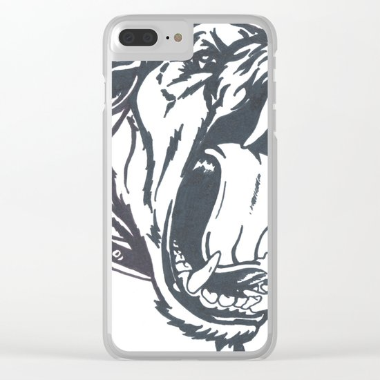 Aggressive Dog Clear iPhone Case