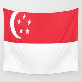 Flag of Singapore Wall Tapestry