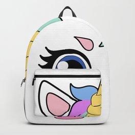 unicorn Face Magic Gift Present Backpack
