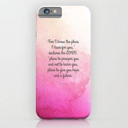 Jeremiah 29:11, Encouraging Bible Verse iPhone Case