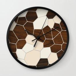 Geode in Cream Wall Clock