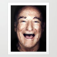 robin williams Art Prints featuring Robin Williams Tesselation by Melissa Key West