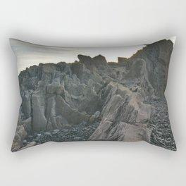 Behind the Rocks Rectangular Pillow
