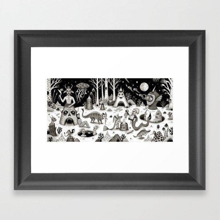 A Grim Hereafter Framed Art Print