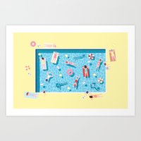 Art Print featuring Pool by ART Collective