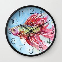 Fish Swim Wall Clock