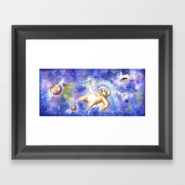 Slothronaut Framed Art Print