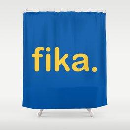 Fika Gul & Blå Shower Curtain