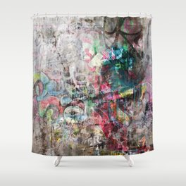 Grunge wall in Brixton Shower Curtain