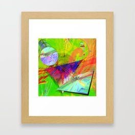 UPGRADE UPRAISE HAPPINES AND LOVE Framed Art Print