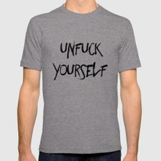 Unfuck Yourself Mens Fitted Tee Tri-Grey X-LARGE