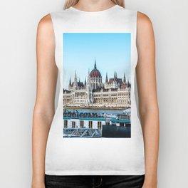 Cityscape of Budapest Biker Tank