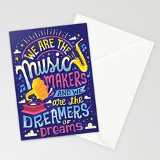 Music Makers and Dreamers Stationery Cards