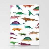 dinosaurs Stationery Cards featuring dinosaurs by victoriazorus
