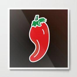 Red hot Pepper Metal Print