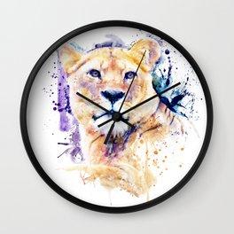 New Lioness Portrait Wall Clock