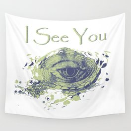 i see you - ayes Wall Tapestry