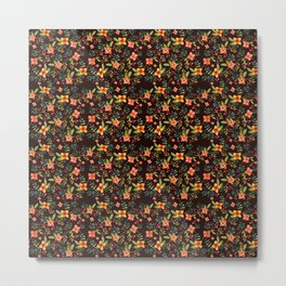 Flower Watercolor Pattern Metal Print