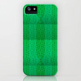 Greenish pattern of borders .. iPhone Case