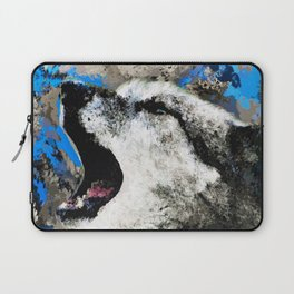 Blue Wolf Watercolor (Color) Laptop Sleeve