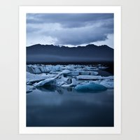 iceland Art Prints featuring Iceland by Daniel Fornies