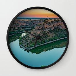HDR Landscape in Duratón Wall Clock