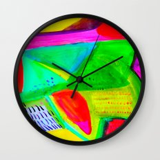 Marina I - Abstract Painting Wall Clock