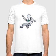 Space Cadet MEDIUM White Mens Fitted Tee