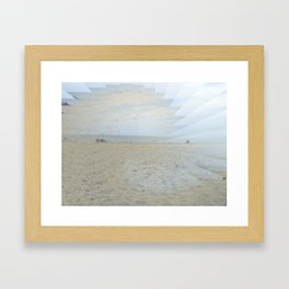 Illusion of Golden Beach Framed Art Print