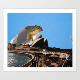 Opera House Rat Art Print