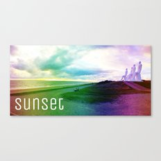 Sunset in DK Canvas Print