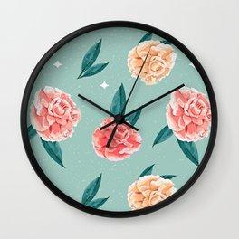 Paris Style Summer Flowers Wall Clock