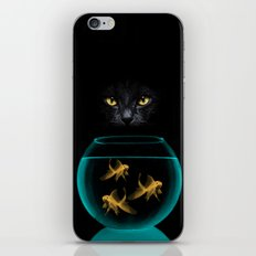 Black Cat Goldfish iPhone & iPod Skin
