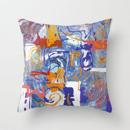 Shamanic Painting 01 Throw Pillow
