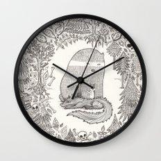 froggle, doggle and poggle Wall Clock
