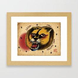 lion tattoo Framed Art Print