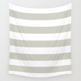 Pastel gray - solid color - white stripes pattern Wall Tapestry